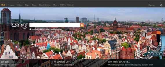 Most Visited Website - Bing
