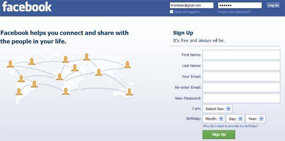 Most Visited Site - Facebook