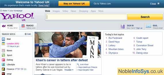 Most Visited Website - Yahoo